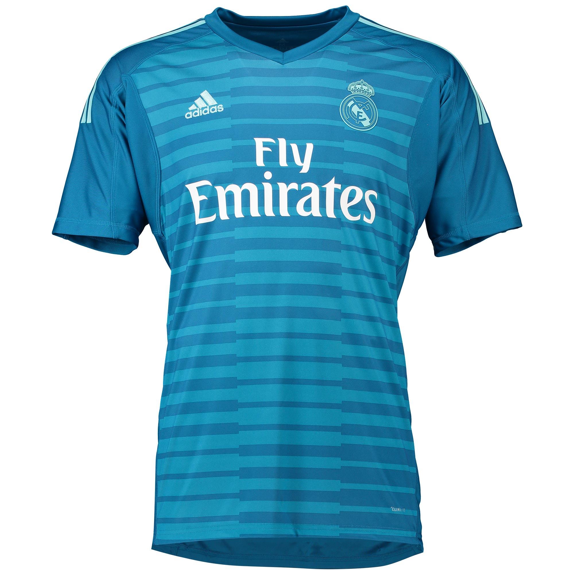 Oficial Real Madrid Segunda Portero Camisa 2018-19 Hombre adidas ... e456b587215c2
